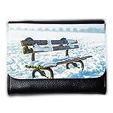 Portemonnaie Geldbörse Brieftasche // M00154778 Bench Park Snow Snowy Snowed // Medium Size Wallet