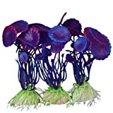 3 Stk. Simulation Aquatic Kunststoff Pflanzen Aquarium Ornament Schmuck-Purple