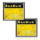 Cloudisk 2Pz CF Card 32GB Compact Flash Cards 32 GB 3 anni di garanzia di sostituzione CF memory card Per Cmaera