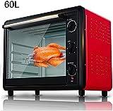 bcbx Barbecue - Foodmaking mini forno con piano cottura e Grill 2200W 60 L Forno elettrico con doppia piastra riscaldante ad alta capacità da tavolo Fornello con molte funzioni preimpostate in acciai
