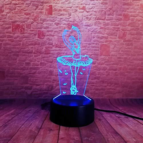 (Amore Swan Lake Ballett Ballerina oder Tänzerin 7 Farbverlauf Led Nachtlicht Tisch Lampara Lampe Baby Schlafen Dekor Geschenke)