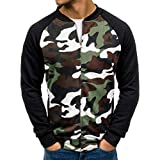 SuperSU Herbst Winter Männer Jacke Zip beiläufige Lange Hülsen dünne 3D-Druck Sweatshirt Taschen Passende Jacken-Jacke Übergangsjacke Outwear Kapuze Sweatshirt Kapuzenjacke