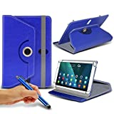 Lenovo Yoga Tab 3 10-inch ( 10.1 Inch ) Tablet Case PREMIUM PU 360 Rotating Leather Wallet Folio Faux 4 Springs Stand Various Colours [ Camera May Not Be Alligned on some models ]