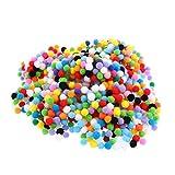 Sharplace 100/500/1000pcs Bunt Pompom Kugeln Pompons Filz Bälle für Handwerkmachen und Hobbybedarf - Mehrfarbig, 10mm 1000pcs