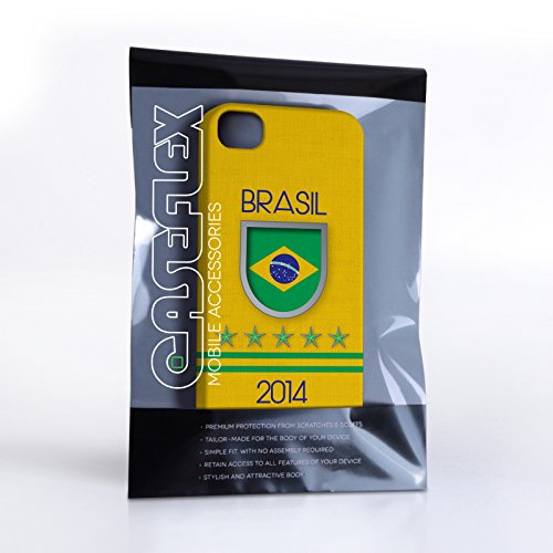 Caseflex Coque iPhone 4 / 4S Brasil Coupe du Monde Dur Housse