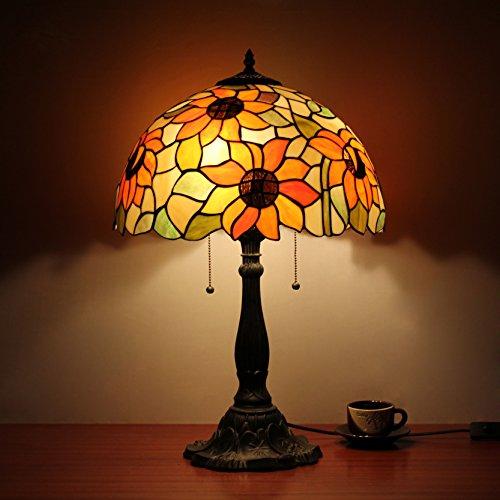 16 pollici di girasole Pastorale antico luce lusso Tiffany di stile a...