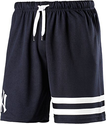 Majestic Herren Poly Band Graphic Shorts, Uomo, Poly Band Graphic, blu navy, M