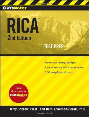CliffsNotes RICA 2nd Edition by Andersen-Perak, Beth, Bobrow, Jerry (2010) Paperback