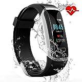 IDOOSMART Fitness Armband mit Pulsmesser,Sport Smart Watch,Wasserdicht IP67 Fitness Tracker,0,96 Zoll Farbbildschirm Aktivitätstracker Fitness Uhr Smartwatch,Pulsuhren,Schrittzähler Uhr
