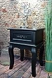 Livitat® Nachttisch Nachtschrank Nachtkonsole Nachschränckchen Nachtkommode Schwarz barock LV4030