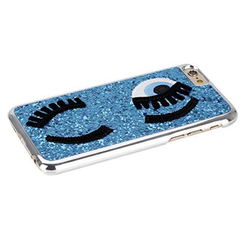 Etsue pour Apple iPhone 6/6S 4.7 Coque,Slim-Fit Smart Gillter Armure PC Case Etui pour Apple iPhone 6/6S 4.7,Mode Mignonne Dur Plastique Coque Protection Bumper Shell pour Apple iPhone 6/6S 4.7,Apple  Bleu
