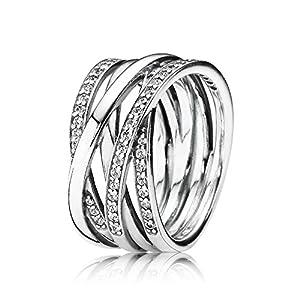 Pandora Damen-Ring 925 Silber Zirkonia weiß Gr. 54 (17.2) – 190919CZ-54