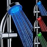 Homeself Badezimmer mit 3Farben Temperatur gesteuerte LED Duschkopf