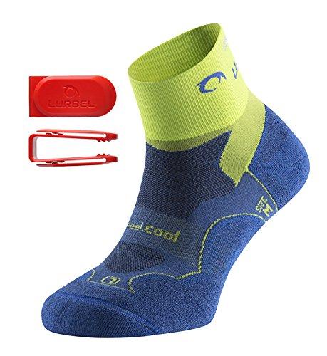 Lurbel Distance Kurze Premium Laufsocken/Sportsocken, geruchshemmend, atmungsaktiv, mit Polsterung und Blasenschutz, für Damen & Herren