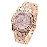 IG-Invictus Damenmode Luxus Diamanten Analog Quarz Vogue Uhren Starry Diamond Watch Rose Gold