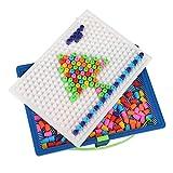 Panlom® 220PCS Colorful Bricks Toys Construction Set Creative Mushroom Nails Pegboard Jigsaw Puzzle Game Birthday Gift for Boys Girls