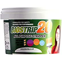 Biostrip20 - Decapante para quitar la pintura, cubo de 500ml Solución a base de agua para quitar sin esfuerzo la pintura y barniz de madera, ladrillo, hormigón, metal, uPVC, vidrio y de otros más