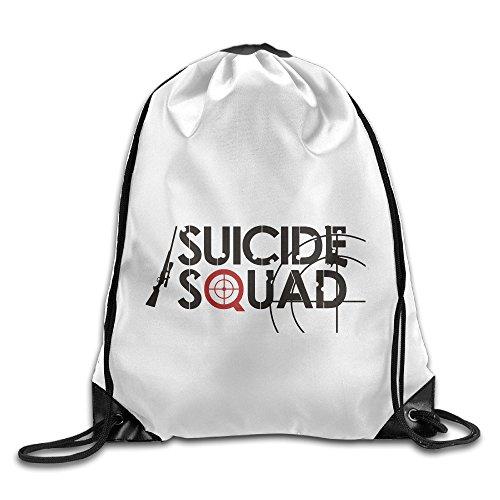 bekey suicidio Squad letras cordón mochila Bolsa de deporte para hombres y mujeres para el hogar uso de almacenamiento de viaje Gimnasio Viaje Compras deporte Yoga Running