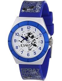 Esprit - ES105274004 - Half Pipe - Montre Garçon - Quartz Analogique - Cadran Blanc - Bracelet Plastique Bleu