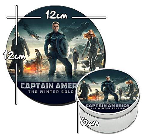 MasTazas Capitan America EL Soldado De Invierno Captain America The Winter Soldier Runde Metalldose aus Zinn Round Metal Tin Box