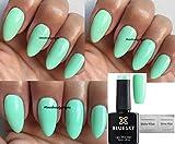 Blue Sky A47Mental Mint Vert pastel Vernis à ongles gel UV LED Soak Off 10ml Plus 2LuvliNail Shine Wipes