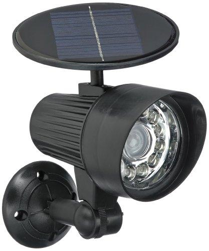 EASYmaxx 06839 Solar-Strahler Security Plus | LED-Solarstrahler mit Bewegungsmelder und Flutlicht, kabellos | für Wand und Boden