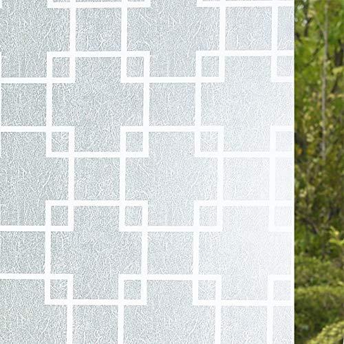 lsaiyy Durchscheinende undurchsichtige Selbstklebende Milchglasfolie Sonnenschutzfolie Aufkleber - 45CMX3M -
