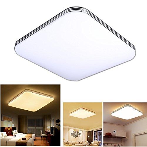 Zhma 36w ultra sottile led plafoniera moderno lampada da soffitto per soggiorno, cucina, camera, bagno, hotel bianco caldo super luminoso quadrato 300mm*300mm