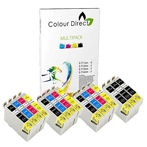 15 XL Colour Direct Druckerpatronen Ersatz für EPSON STYLUS S20, SX100, SX105, SX110, SX115, SX200, SX205, SX210, SX215, SX218, SX400, SX405, SX410, SX415, SX515W, SX600FW, SX610FW, BX300F, S21, SX110, SX115, SX215, SX410, SX415, SX515W, SX209, SX405 WiFi, D78, D92, D120, DX4000, DX4050, DX4400, DX4450, DX5000, DX5050, DX6000, DX6050, DX7450. DX8450, DX7000F, DX7400, DX8400 Drucker