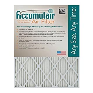20X25X1 (19.75 x 24.75) Accumulair Platinum 1-Inch Filter (MERV 11) by Accumulair