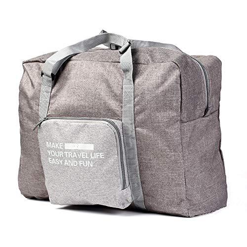 Reisetasche Leichte Falten Reisetasche große Kapazität 23L Oxford Tuch Wasserdichtes Gepäck für Reisen, Einkaufen, Sport, Fitnessraum, Urlaub, Camping (Grau)