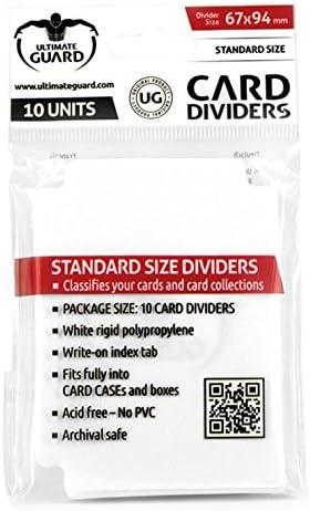 Ultimate Guard ugd010080 Intercalaires carte, carte, carte, Taille Standard Blanc Lot de 10 B00KK6MMO6 867463