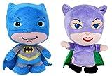 2er Set-Original Lizenzprodukt Little Mates Batman+Catwoman- ca. 18 cm
