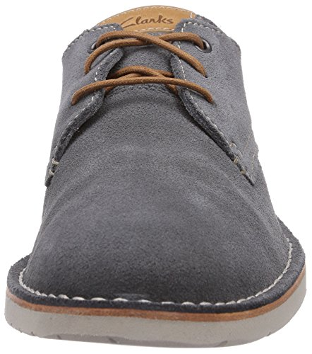 Clarks  Hinton Fly, Brogue homme Bleu (Denim Blue Sde)
