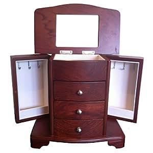 Zabelini Pegoso Jewellery Box Mahogany Wood Finish