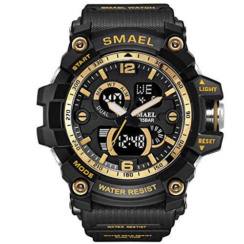 GGATT Jungen Digitaluhren Kinder Sport 5 ATM wasserdicht Digital Uhren mit Alarm Timer Kinderuhren Outdoor Armbanduhr für Jugendliche Jungen,Gold (Uhr Kind Digitale)