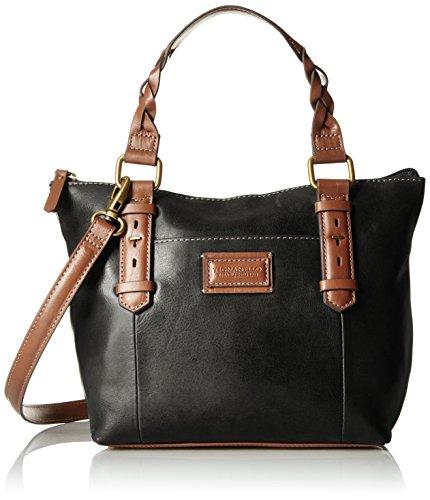 tignanello-borough-vintage-leather-mini-tote-crossbody-black