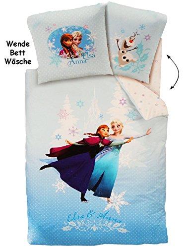 alles-meine.de GmbH 2 tlg. Set: Wende - Bettwäsche -  Disney Frozen - die Eiskönigin  - Wendebet..