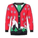 CICIYONER Liebhaber Weihnachten gedruckt Langarm Oansatz Sweatshirt Pullover Tops Bluse
