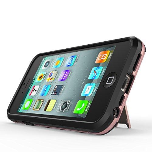 Qiaogle Téléphone Coque - Shock Proof PC Hybrid Stents Housse Case pour Apple iPhone 5 / 5G / 5S / 5SE (4.0 Pouce) - HK01 / Bleu clair HK03 / D'or