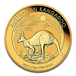 Goldmünze Australien Känguru - 999.9 Feingold - Perth Mint (1/10oz 2019)