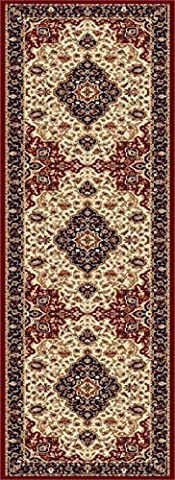 Universal Rugs Kirsten Oriental Traditional Runner Accent Area Rug, Beige, 68 x 221 cm/2 x 8 ft