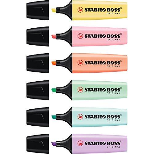 confronta il prezzo Stabilo Boss Original Pastel Evidenziatore - Astuccio da 6 miglior prezzo