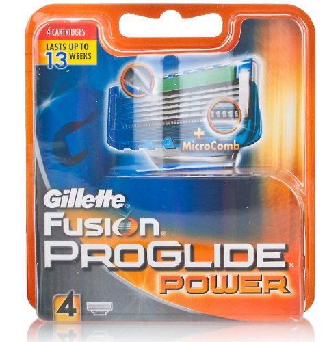 Gillete Fusion ProGlide Power Blades - 4 Cartridges  available at amazon for Rs.1500