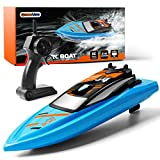 GizmoVine Ferngesteuertes Boot RC Boot 2,4GHz mit 2 Motoren Schnelle Geschwindigkeit Jungen und Mädchen (Blau)