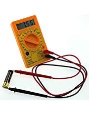 MoreBlue Hao Yue Basic Digital Multimeter with Buzzer Square Wave Output Voltage Ampere Ohm Tester Probe DC AC LCD Overload Protection (Random Color)
