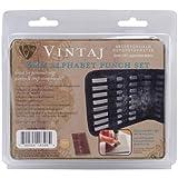 Beadsmith Metall Alphabet Punch Set W/Case 27kg-3mm (.125-inch) Großbuchstaben