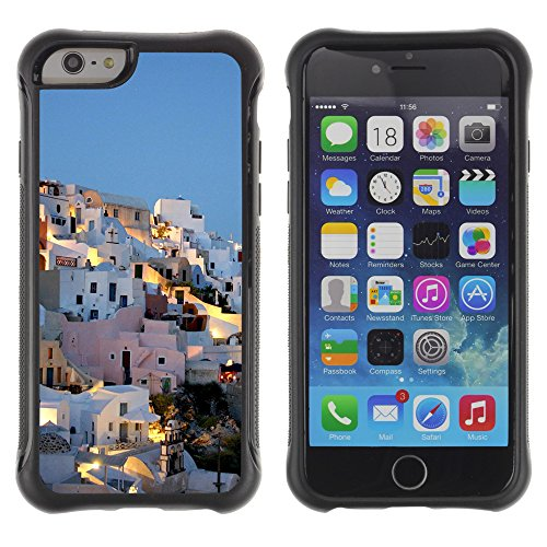 Graphic4You Beautiful Greece Corner Postkarte Ansichtskarte Design Shockproof Anti-Rutsch Weichen Hülle Case Tasche Schutzhülle für Apple iPhone 6 Plus / 6S Plus Design #4