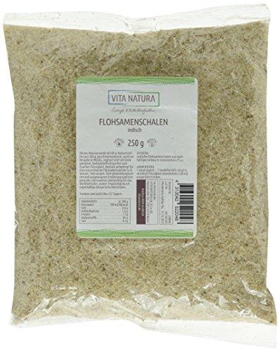 Preisvergleich Produktbild Vita Natura Flohsamenschalen indisch,  ballaststoffreich,  1er Pack (1 x 250 g)