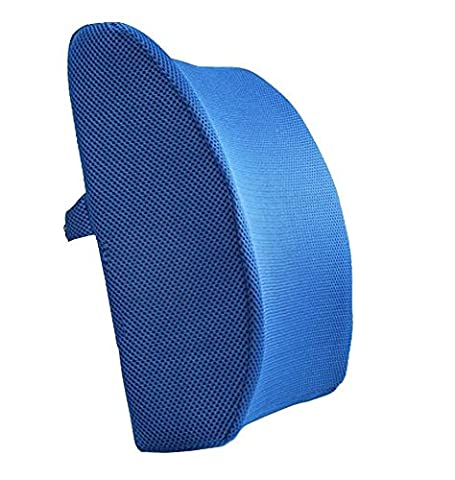 LoveHome Memory Foam Lumbar Support Back Cushion With 3D Mesh Cover Balanced Firmness Designed for Lower Back Pain Relief- Ideal Back Pillow for Computer/Office Chair, Car Seat, Recliner etc. -